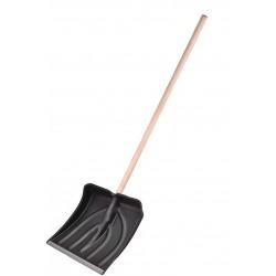 Лопата снегоуборочная пластм. с деревянным черенком