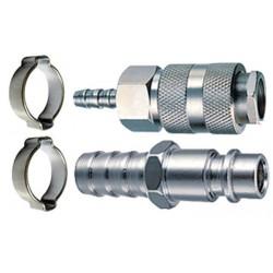 Переходники набор б/с штуцер-елочка 6 мм+муфта-елочка 6 мм