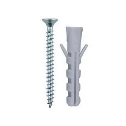 Дюбель пластиковый с шурупом 10х50мм, 6 шт