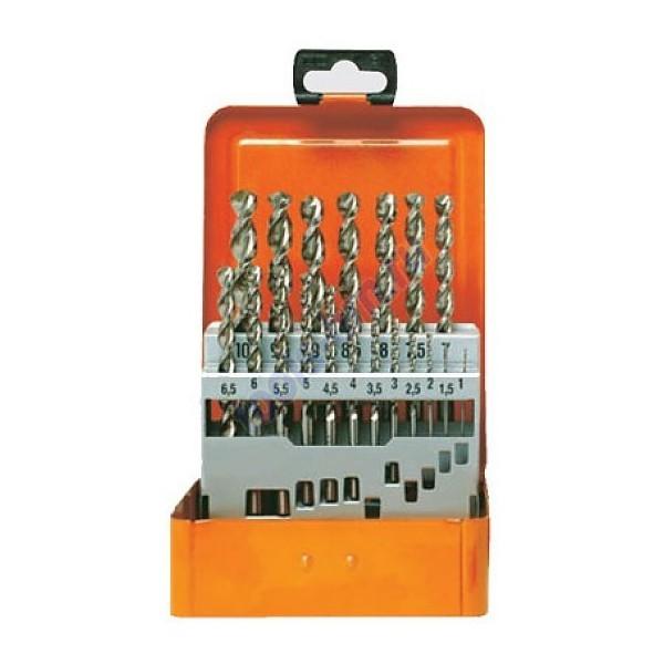 Набор сверл по металлу HSS-Co 19 шт 1-10/0.5 мм