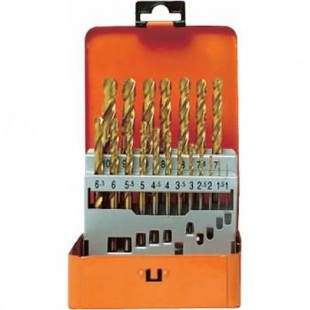 Набор сверл по металлу HSS-TIN 19 шт 1-10/0.5 мм