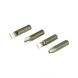 Биты в наборе для ударной отвертки, 38 мм 4 шт