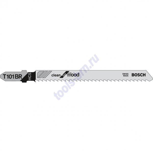 Пилки к лобзику T101BR Clean for Wood 1 шт./25