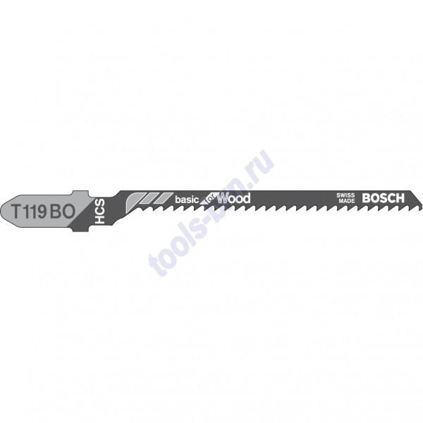 Пилки к лобзику T119B Basic for Wood 1шт./3