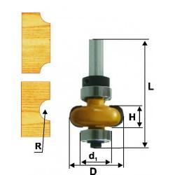 Фреза кромочная галтельная 25,4х10 R 4,8 хв. 8 мм