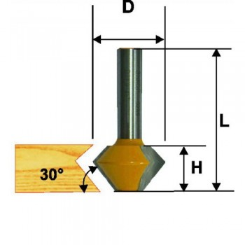 Фреза кромочная конусная ф38.1х22.2, 22.5°, хв.12м