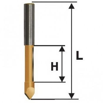 Фреза кромочная прямая 10х25мм хв. 8мм