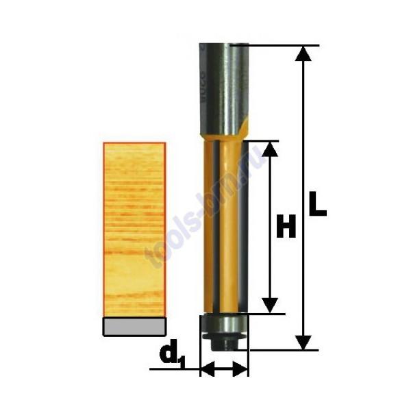 Фреза кромочная прямая 12,7х25 хв. 8 мм