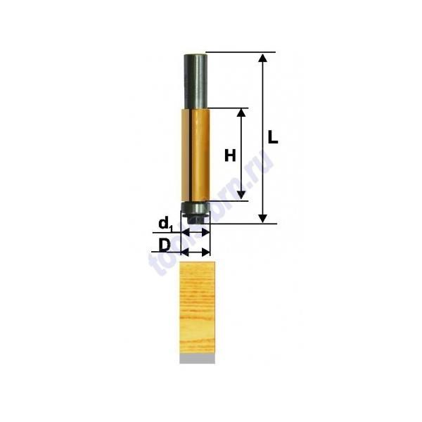 Фреза кромочная прямая 12,7х25мм хв. 8мм
