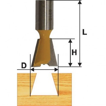 Фреза пазовая конструкционная 7 гр 15,8мм хв. 8 мм