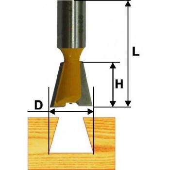 Фреза пазовая конструкционная 7 гр 19мм хв. 8 мм