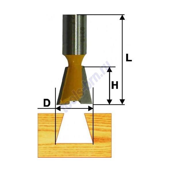 Фреза пазовая конструкционная 9 гр 9,5мм хв. 8 мм