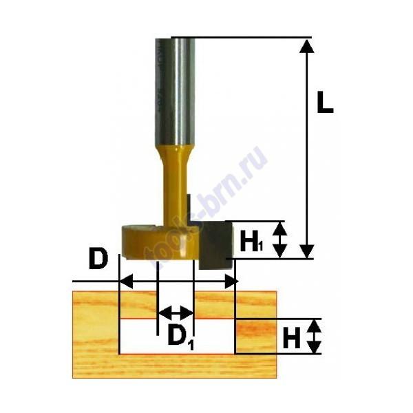 Фреза пазовая конструкционная Т-образ. 12,7мм хв. 8 мм