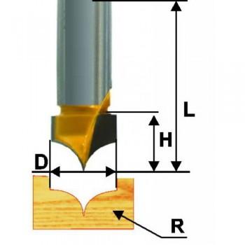 Фреза пазовая фасонная 10 R4мм хв. 8мм