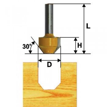 Фреза пазовая фасонная 11,9мм 22 гр хв. 8мм