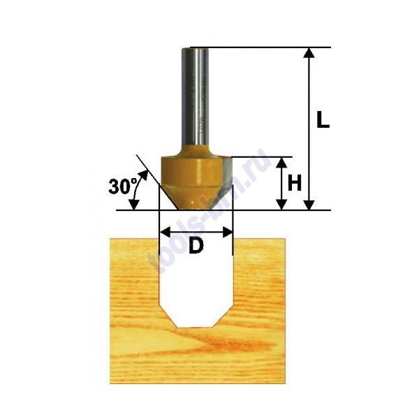Фреза пазовая фасонная 11,9мм 45 гр хв. 8мм