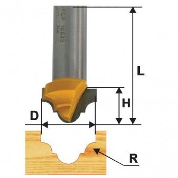Фреза пазовая фасонная 12,7 R2,4мм хв. 8мм