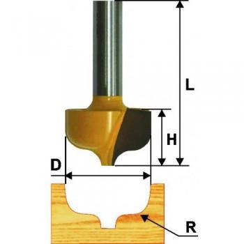 Фреза пазовая фасонная 23,8мм R4,8 мм хв. 8мм
