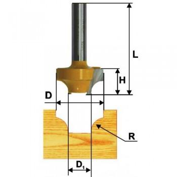Фреза пазовая фасонная 31,8 мм R9,5мм хв. 8мм
