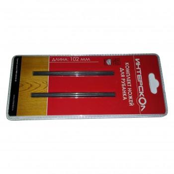 Ножи к рубанку комплект 2 шт 102х6х1,2 мм быстрорежущая сталь