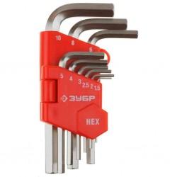 Ключи имбусовые короткие 1,5-10 мм