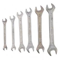 Ключи рожковые 7-19 мм 6 шт.