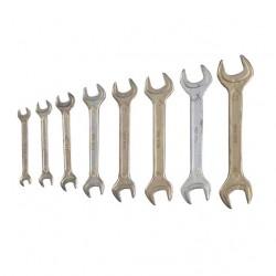 Ключи рожковые 7-22 мм 8 шт.