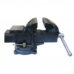 Тиски слесарные 100 мм, поворот с наковальней