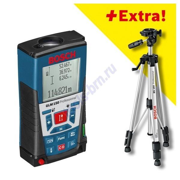 Измеритель длины лазерный GLM 150 + штатив BS150