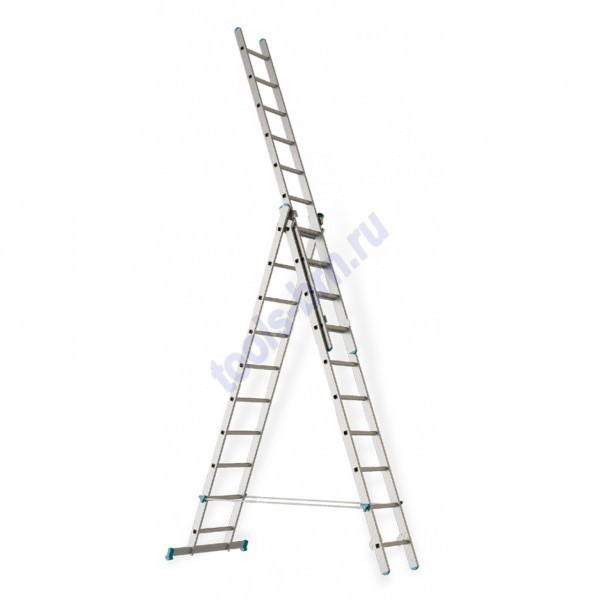Лестница раскладная раздвижная 3х8
