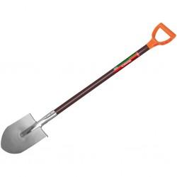 Лопата штыковая нержавеющая с черенком 120см