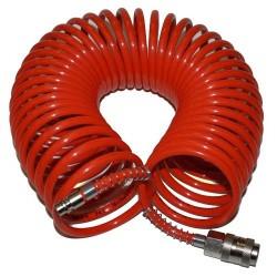 Шланг спиральный SRU 6х8 20м быстросъем